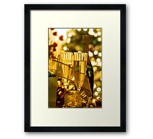 Two champagne glasses Framed Print