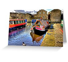 Skipton Canal Basin #2 Greeting Card