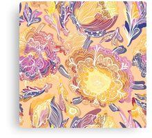 Magic Floral Pattern Canvas Print