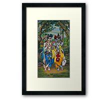 Krishna and Balaram Framed Print