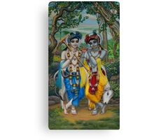 Krishna and Balaram Canvas Print