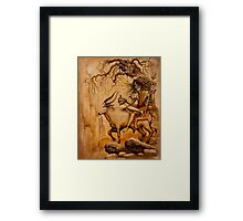 Shiva on Nandi bull Framed Print