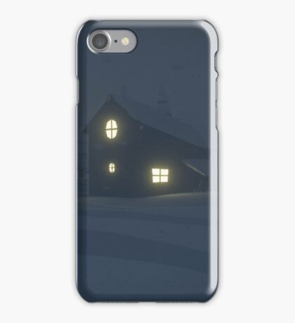 low poly - snow storm iPhone Case/Skin