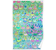 Art Deco Watercolor Patchwork Pattern 1 Poster