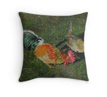 Cock & Hen Throw Pillow