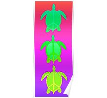 Peace Turtles Poster