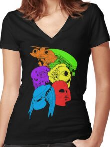 80's Sci-Fi Movies Women's Fitted V-Neck T-Shirt