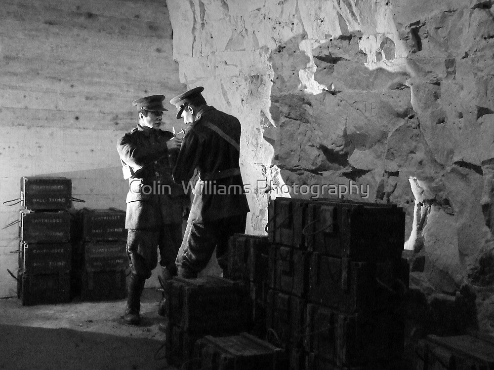 Guarding the Ammo - Chislehurst Caves, Kent (A Crafty Cigarette !!) by Colin  Williams Photography