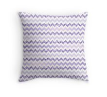 Chevron Purple Zigzag Throw Pillow