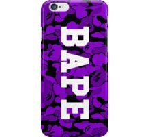 Purple Bape Camo iPhone Case/Skin