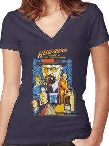 Heisenberg and the Empire of the Crystal Meth Women's Fitted V-Neck T-Shirt