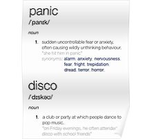 panic at the disco defined Poster