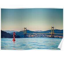 Rande Bridge, Galicia, Spain Poster