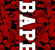 Dark Red Bape Camo by bradjordan412