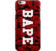Dark Red Bape Camo iPhone Case/Skin