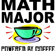 Math Major Powered By Coffee by GiftIdea