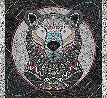 Neon Tribal Bear by artlovepassion