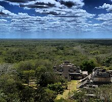 Ek' Balam - view from the temple top by Allen Lucas