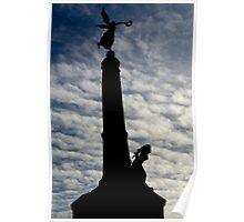 Aberystwyth War memorial silhouetted Poster