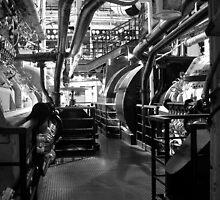 Engine Room, Queen Mary, Long Beach, California, USA. by Paul Holland