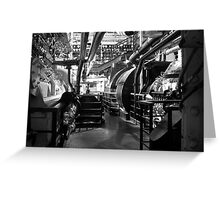 Engine Room, Queen Mary, Long Beach, California, USA. Greeting Card