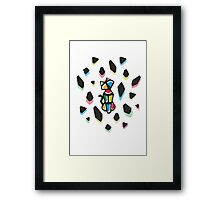 Rainbow Anigami Cat Framed Print