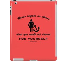 Golden Rule Confucius iPad Case/Skin