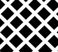 Rhombus Black & White by Maria Moreno