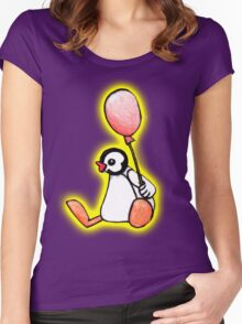 pingu's friend yellow glow Women's Fitted Scoop T-Shirt