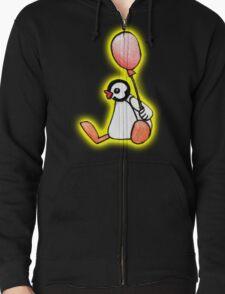 pingu's friend yellow glow Zipped Hoodie