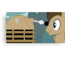 Dr Whooves Canvas Print