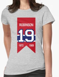Larry Robinson - retired jersey #19 Womens Fitted T-Shirt