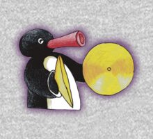 pingu and his music Kids Tee