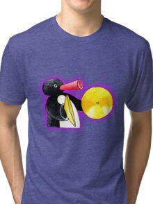 pingu and his music Tri-blend T-Shirt