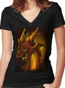 Smaug the Terrible Women's Fitted V-Neck T-Shirt