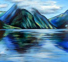 Mitre Peak, Milford Sound, NZ by Ira Mitchell-Kirk