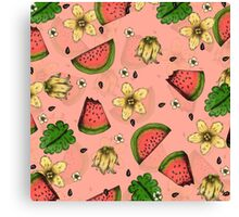 Summer Fruit Pattern Design Canvas Print