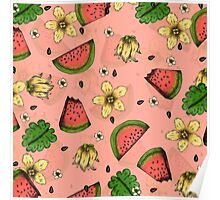 Summer Fruit Pattern Design Poster