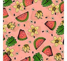Summer Fruit Pattern Design Photographic Print