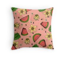 Summer Fruit Pattern Design Throw Pillow