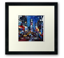 Saturday night in Times Square Framed Print