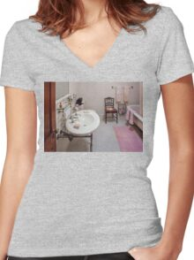 Building Trades - Plumber - The Bathroom  Women's Fitted V-Neck T-Shirt