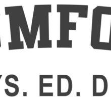 Beverly Hills Cop Mumford T-shirt Axel Foley Phys Ed Dept Detroit 80s vintage retro Sticker