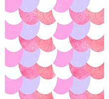 Mermaid Scales Pink/Purple/White Photographic Print