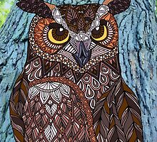 Great Horned Owl by artlovepassion