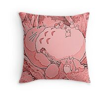 Pink Totoro! Throw Pillow