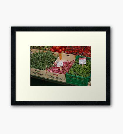 Vegetable Stall Framed Print