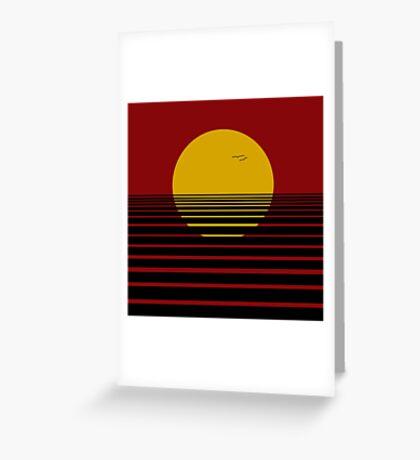 Red dawn Greeting Card