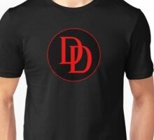 DoubleD Logo -  Black & Red  Unisex T-Shirt