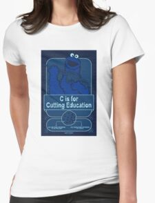 C is for Cutting Education Womens Fitted T-Shirt